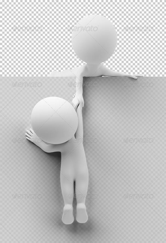 3d small people - help to the friend pr
