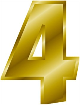 gold-number-4